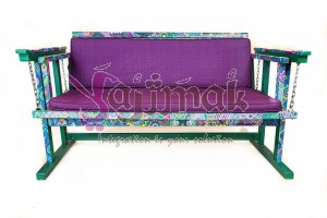 Hand painted Swing, 3 seated persons