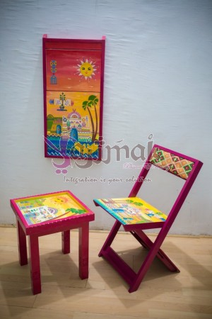Painted Chair/tableau