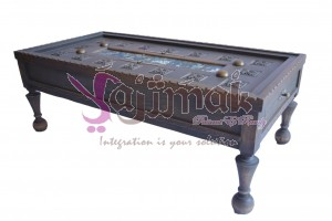 Carved and painted table