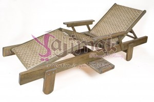 Natural Rattan chaise lounge